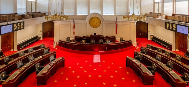 The North Carolina Senate chamber.
