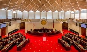 The North Carolina Senate chamber.