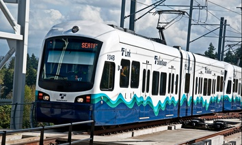 A Sound Transit Link light rail train.