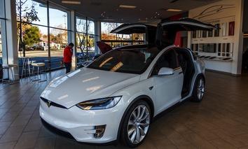 A Tesla store in Palo Alto, California.