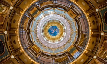 The Rotunda of the Iowa State Capitol in Des Moines