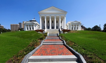 The Virginia State Capitol.