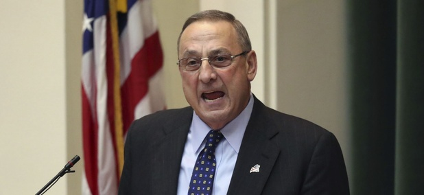 Maine Gov. Paul LePage delivers his State of the State Address in Augusta on Tuesday.