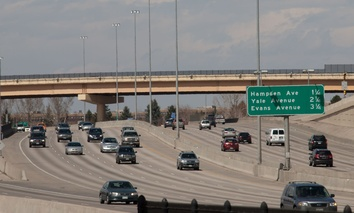 A Denver-area freeway.