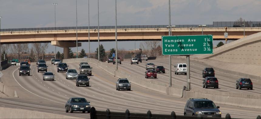 A Denver-area freeway.