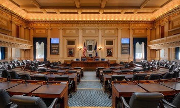 The House of Representatives chamber in the Virginia State Capitol