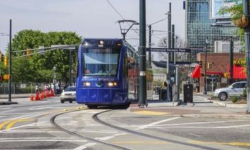 A streetcar in Atlanta.