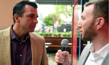 Route Fifty's Mitch Herckis interviews San Jose Mayor Sam Liccardo in Austin.