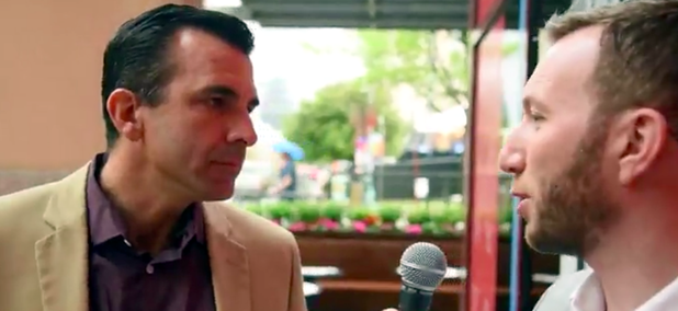 Route Fifty's Mitch Herckis interviews San Jose Mayor Sam Liccardo in Austin.