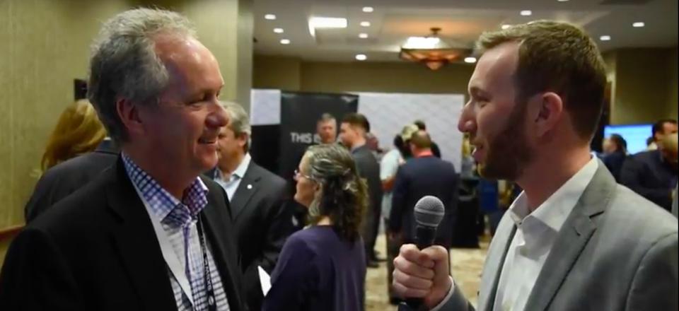 Route Fifty's Mitch Herckis interviews Louisville Mayor Greg Fischer in Austin.