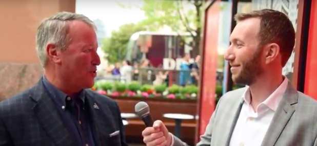 Route Fifty's Mitch Herckis interviews Orlando Mayor Buddy Dyer in Austin.