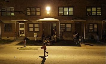 A public housing project in Baltimore.