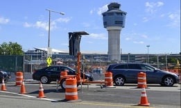 Construction at LaGuardia Airport in New York City.