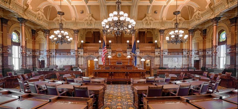 The Kansas Senate Chamber in Topeka