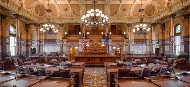 The Kansas Senate Chamber in Topeka