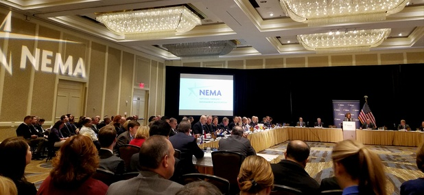 State and local emergency management professionals gathered in Alexandria, Virginia, for the National Emergency Management Association's mid-year forum on Thursday.