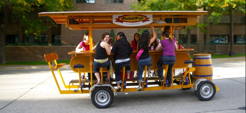 A Trolley Pub bike in Minneapolis.