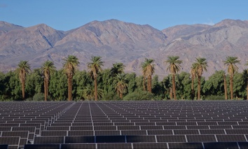 Solar panels in Death Valley, California.