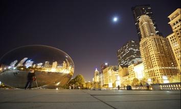 Cloud Gate, near Michigan Avenue in Chicago.