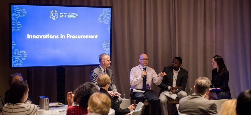 Innovations in Procurement was one of the breakout sessions during the What Works Cities 2017 Summit in New York City.