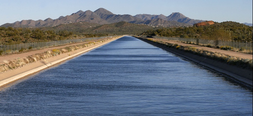 The Central Arizona Project canal near Fountain Hills, Ariz.