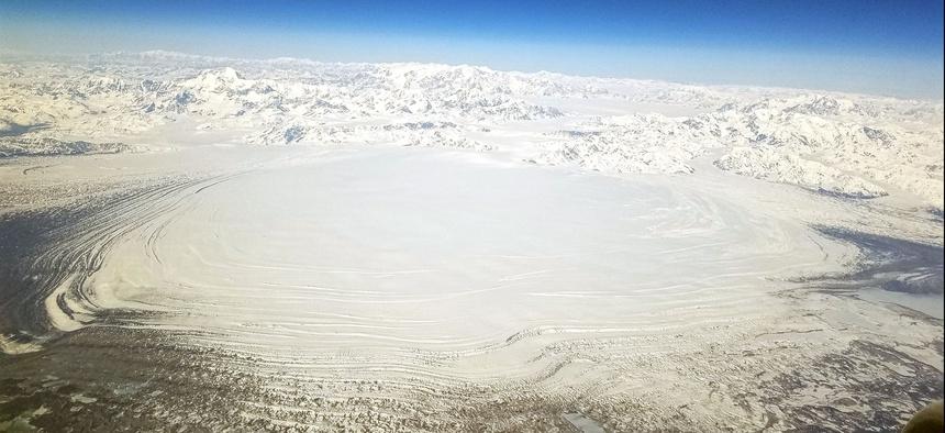 The Malaspina Glacier in Southeast Alaska.