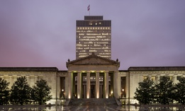 Tennessee War Memorial Building from the Legislative Plaza