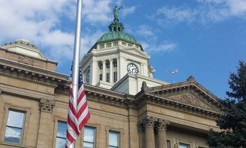 The Wyandot County Courthouse in Upper Sandusky, Ohio