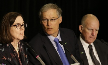 Govs. Kate Brown, Jay Inslee and Jerry Brown