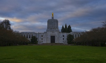 The Oregon Capitol Building.