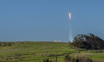 A SpaceX rocket launches from Vandenberg Air Force Base near Lompoc, California.