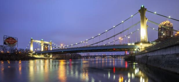 The Hennepin Avenue Bridge in Minneapolis.