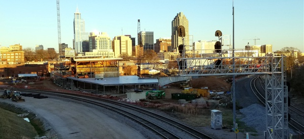 The Raleigh Union Station project underway in North Carolina's capital city is funded, in part, through TIGER grants.