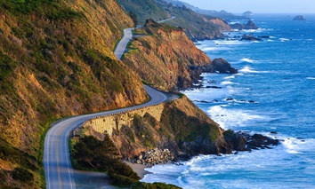 The Pacific Coast Highway in Big Sur, California