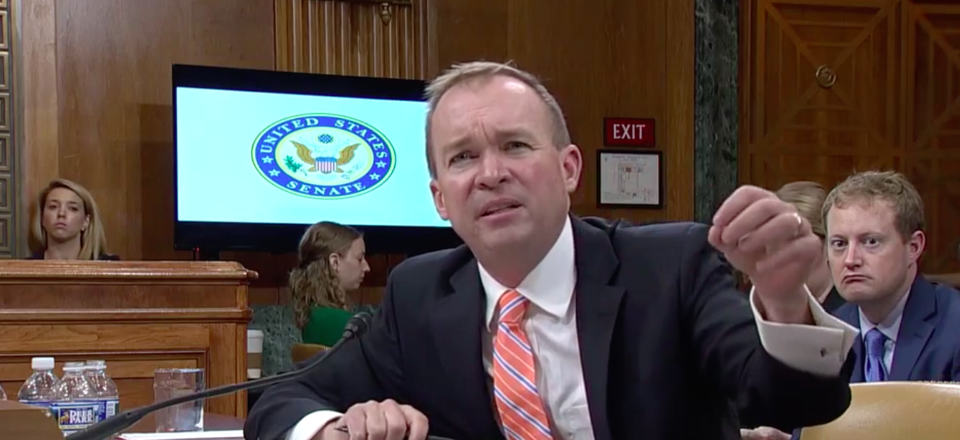 White House Budget Director Mick Mulvaney testified before a Senate committee hearing on Thursday.