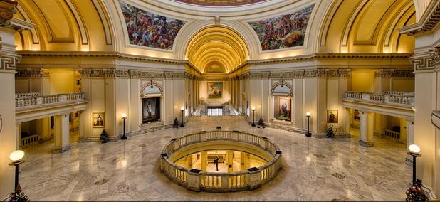 The Rotunda of the Oklahoma State Capitol.