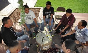 American Indian drummers in Phoenix in 2010.