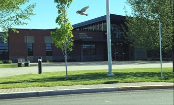 The municipal complex in Madras, Oregon