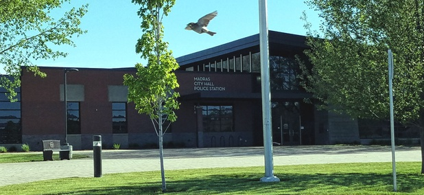 The municipal complex in Madras, Oregon