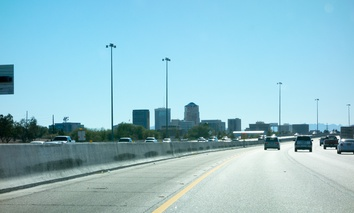 Interstate 10 running through downtown Tucson, Arizona