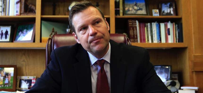 Kansas Secretary of State Kris Kobach
