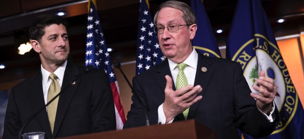 House Speaker Paul Ryan, R-Wis., left, and House Judiciary Committee Chairman Bob Goodlatte, R-Va., right.
