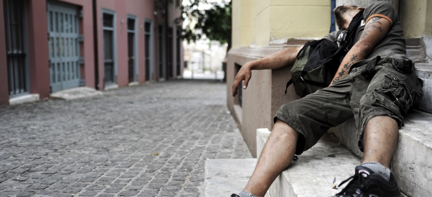 homelessness is rising Bloomberg shifted blame - noting that the federal government had cut back on section 8 housing vouchers - and touting a city program that he claims has moved homeless families into permanent housing.