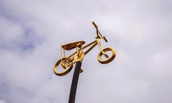 Bicycle art in Portland, Oregon.