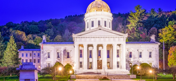The Vermont State House in Montpelier, Vermont