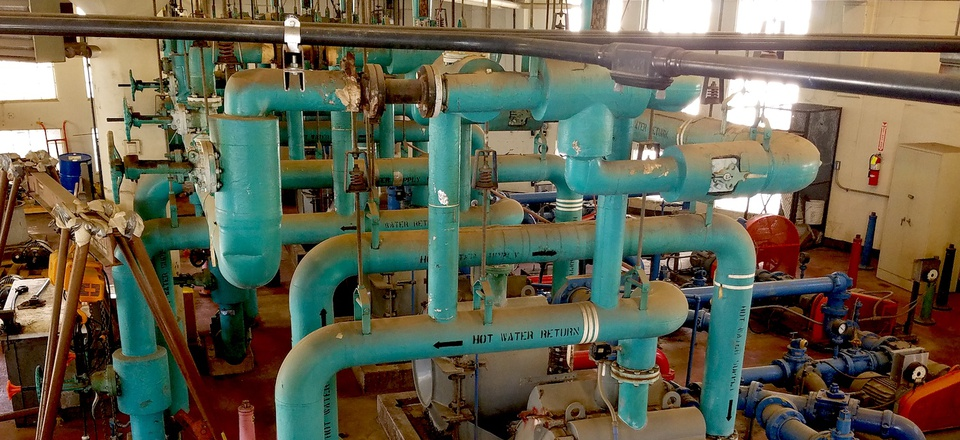 Inside the Southeast Treatment Plant in San Francisco.