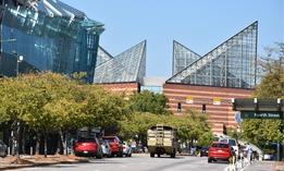 Downtown Chattanooga, near the Tennessee Aquarium