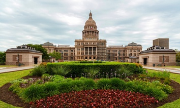 The Texas State Capitol.