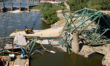 The Interstate 35W Bridge in Minneapolis collapsed into the Mississippi River on Aug. 1, 2007.
