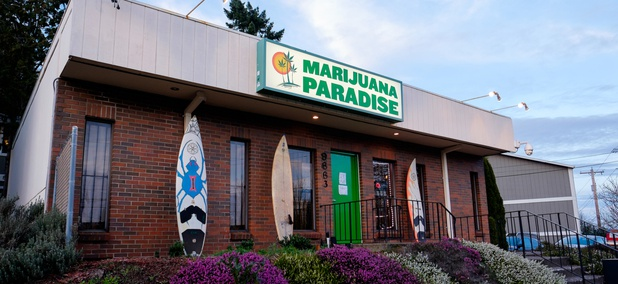 A marijuana dispensary in Portland, Oregon.